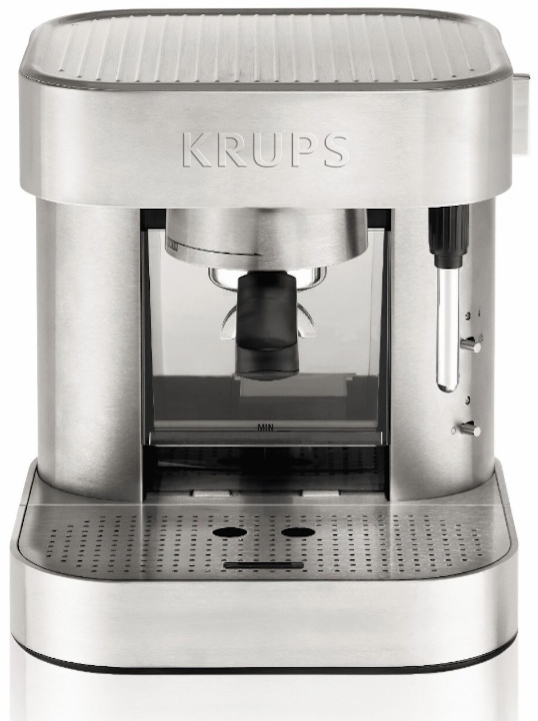 KRUPS XP601050 Manual Pump Stainless Steel Espresso Machine