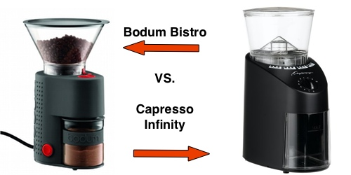 Bodum Bistro Burr Vs Capresso Infinity Burr Grinder Which Is Best To Buy Coffee Gear At Home