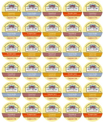Brewing Something Good, K-Cup Gift Sampler, 30-Count Cappuccino Only Variety