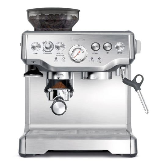 White Die Cast Housing 48 oz Removable Water Tank Automatic Espresso Machine