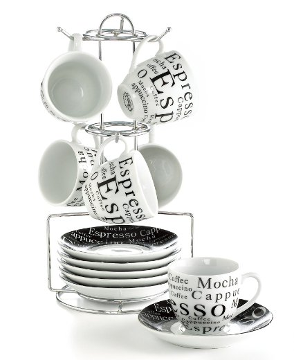 Gibson 13-pc. Espresso Set
