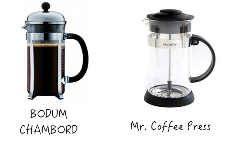 Bodum vs Mr Coffee
