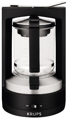 KRUPS KM468850 8000034929 Moka 10-Cup Brewer Filter Coffee Maker