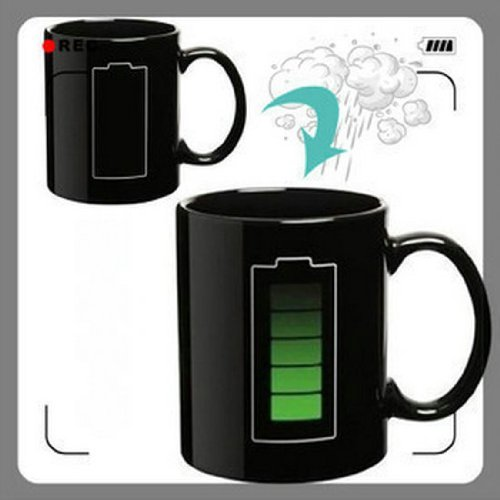 Battery Color Changing Thermometer Heat Kruzhkus Mug