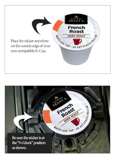 K-cup 2.0 Freedom Stickers for Keurig 2.0 Series Brewers