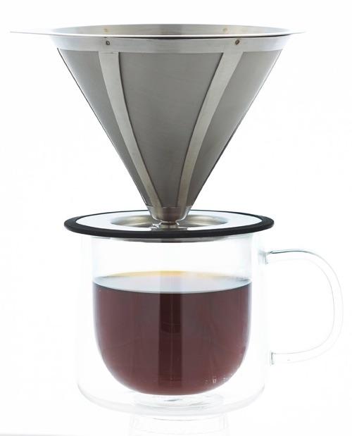 GROSCHE Ultramesh Ultra Fine 18_8 Stainless steel Micro Filter Pour Over Coffee Dripper