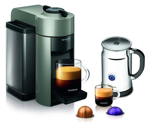 Nespresso A+GCC1-US-GR-NE VertuoLine Evoluo Coffee & Espresso Maker with Aeroccino Plus Milk Frother