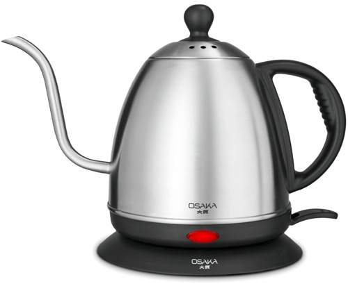 Osaka 1 Liter Electric Gooseneck Drip Kettle for Pour Over Coffee and Tea