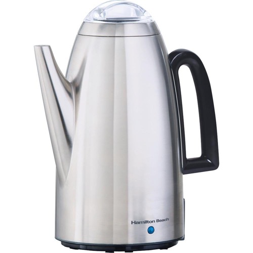 Hamilton Beach 40614 Twist Lid Percolator, Stainless Steel