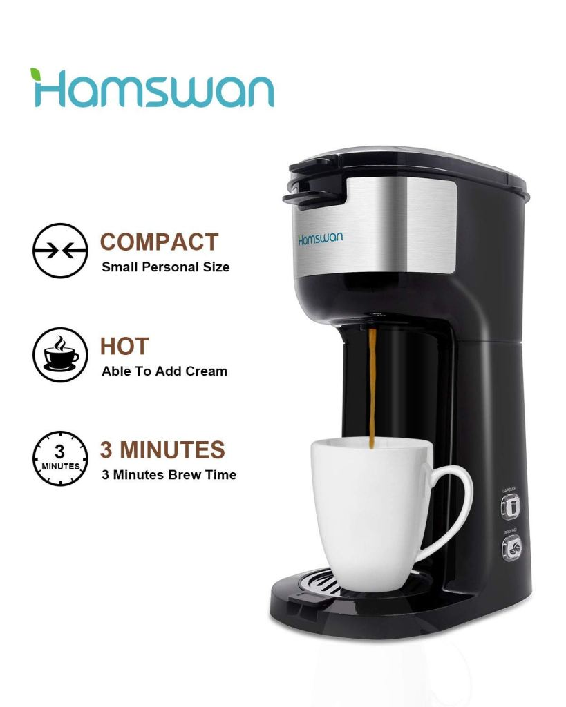 Hamswan Single Serve Brewer Coffee Maker 1