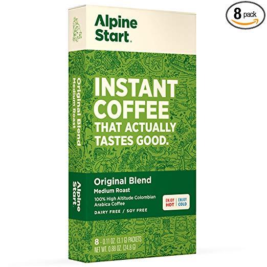 Alpine Start instant coffee coffeeinblog