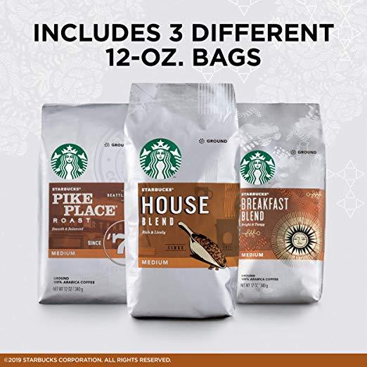 Starbucks Medium Roast Ground Coffee Variety Pack