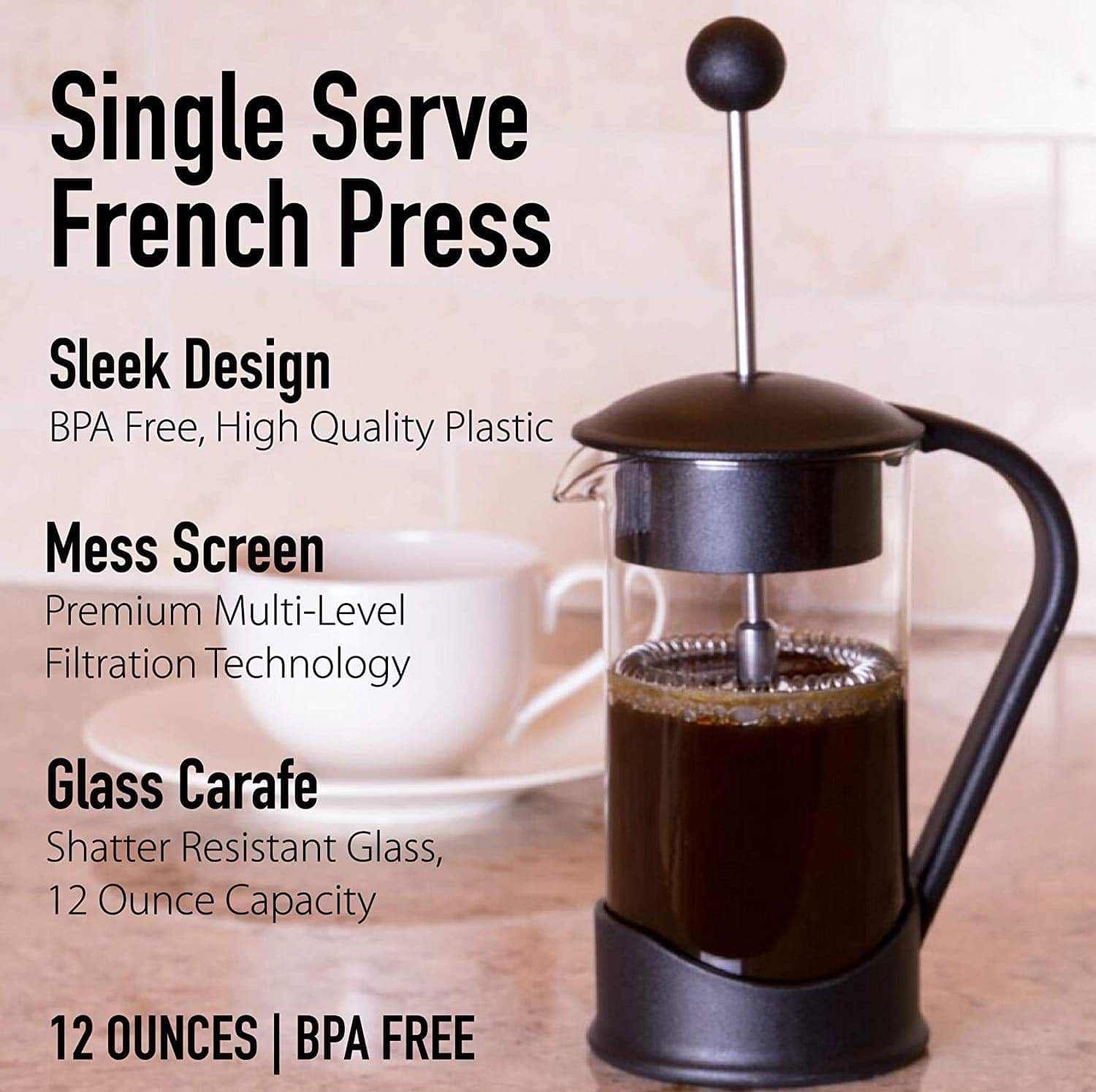 French Press Single Serving Coffee Maker info