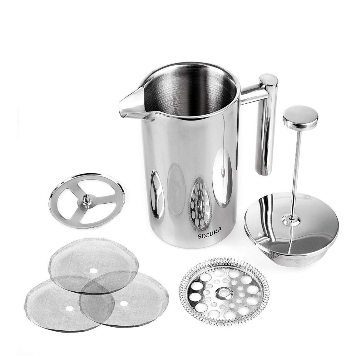 Secura Stainless Steel French Press Coffee Maker info