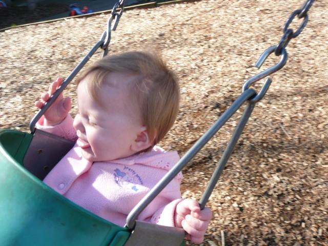 baby on a swing - CoffeeJitters.Net