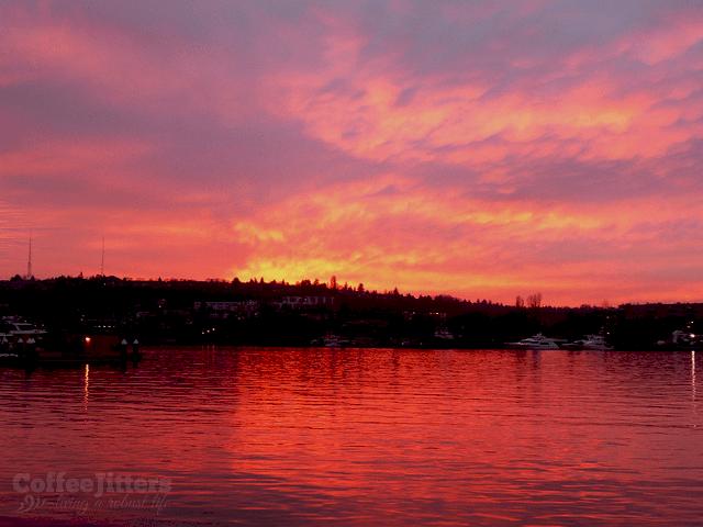 sunset-lake-union
