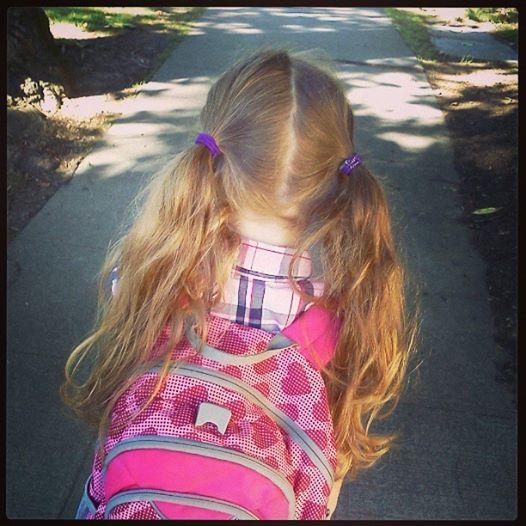 end of second day of kindergarten