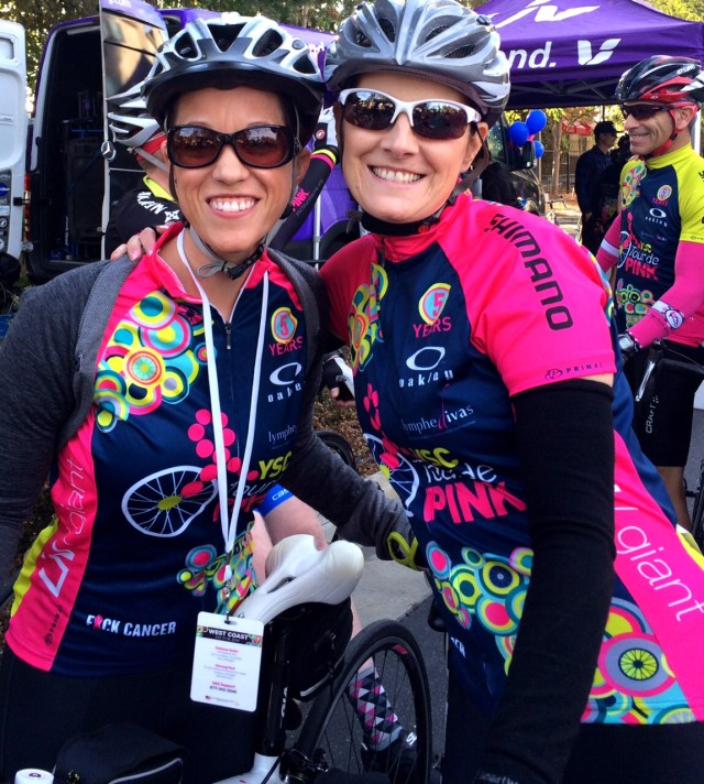 ysc tour de pink  Erin Johnson and Barb Greenlee