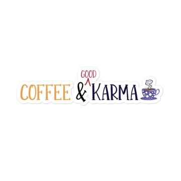 sticker, karma, coffee, horoscope