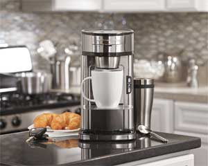Hamilton Beach Single Serve Scoop Coffee Maker, Stainless Steel (49981)