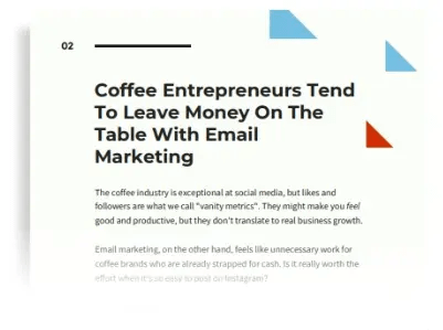 coffee email marketing guide