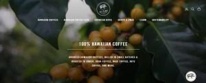 Big Island hawaiian coffee Website
