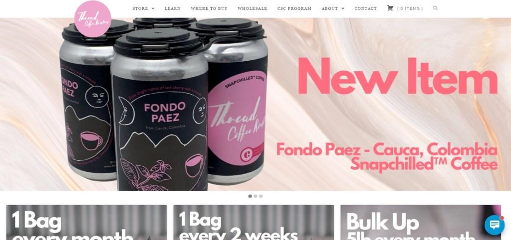 Thread Coffee Website