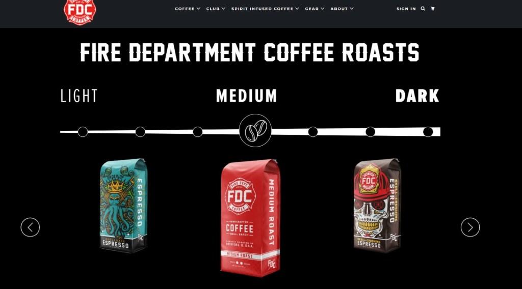 fire department coffee Website