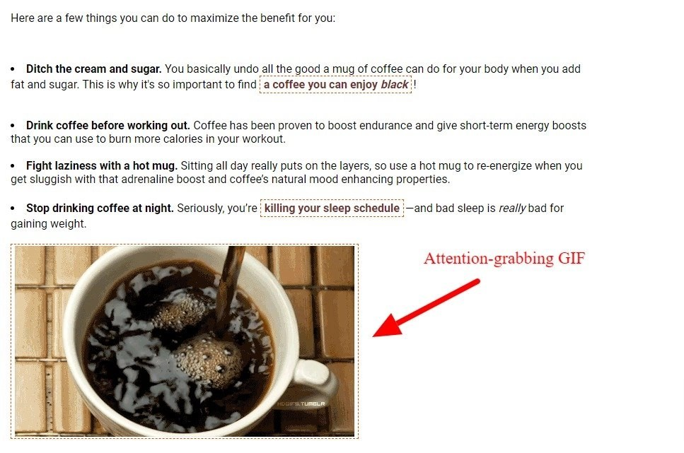 images in coffee writing