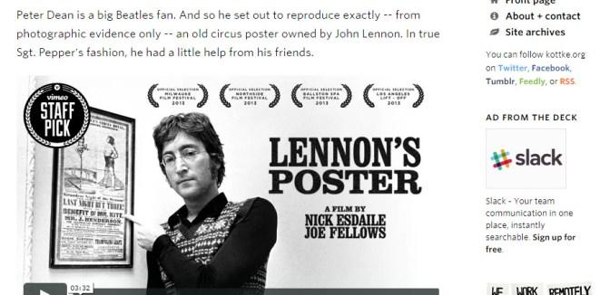 John Lennon's poster