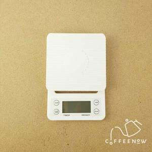 coffee timer scale in white