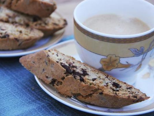 Chocolate and rosemary make a robust biscotti