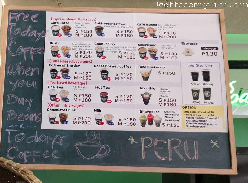 coffee tonya makati menu