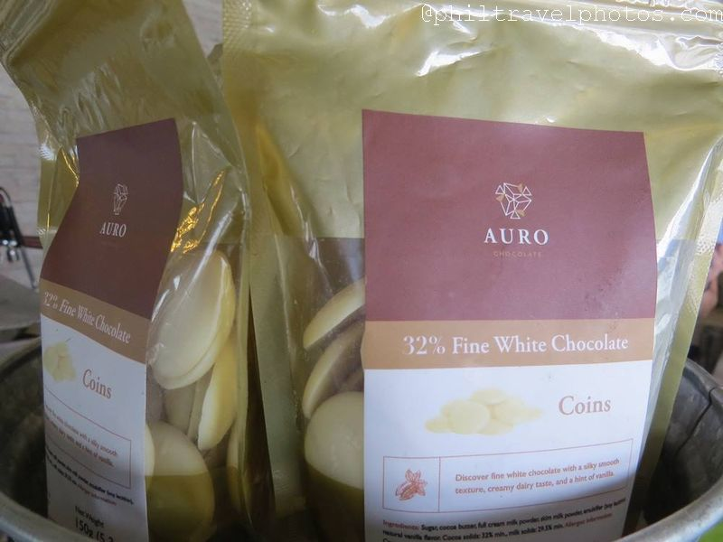 the giving cafe auro white chocolate coins