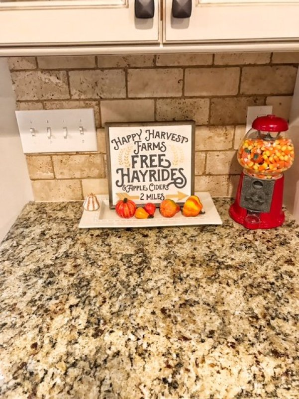 Gumball Machine Filled with Candy Corn