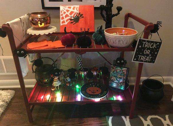 Halloween Bar Cart Decor Ideas