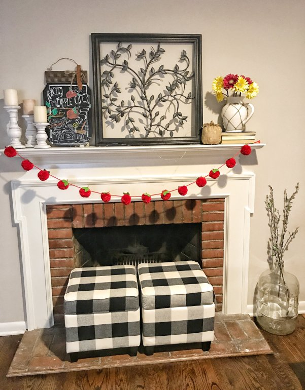 Apple Picking Theme Farmhouse Mantel