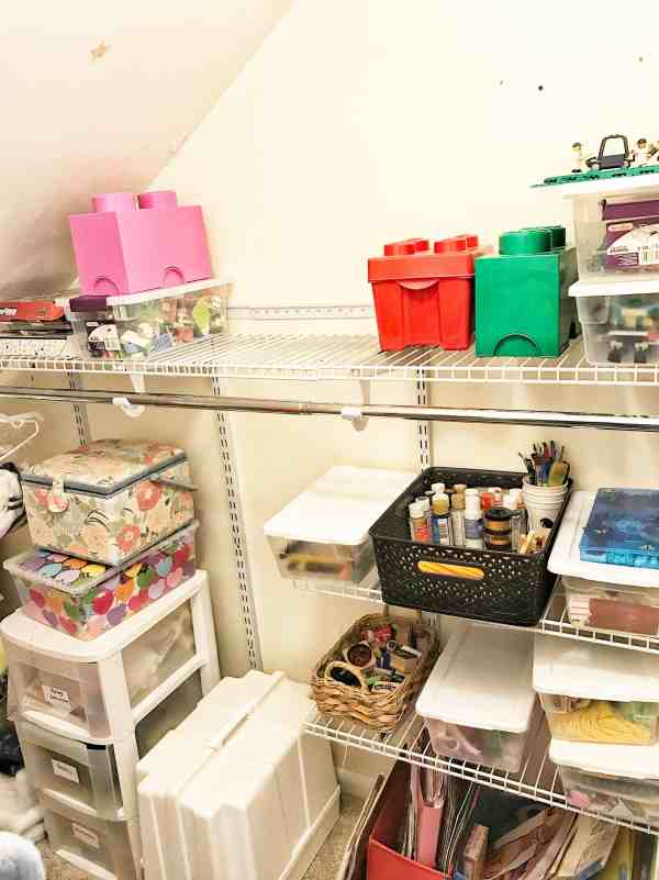 Organizing Kids Craft Supplies
