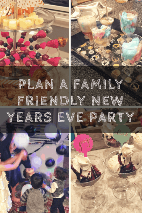 Family Friendly New Year's Eve Ideas for a Party at Home #NYE #Newyears #printables #food #games