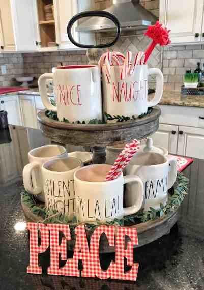 Rae Dunn Mug Display