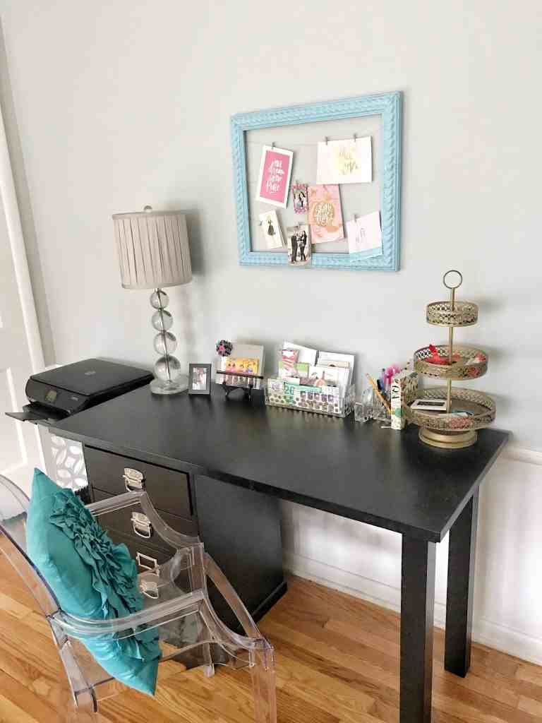 Tips and Inspiration for Home Office Organization #workfromhome #organized #feminine