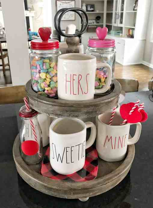 Valentine's Day Tiered Tray Stand