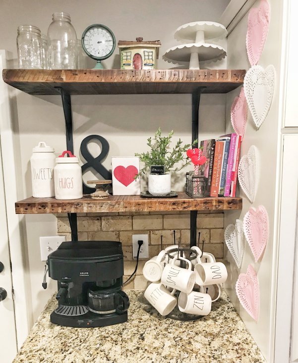 Styling Kitchen Shelves