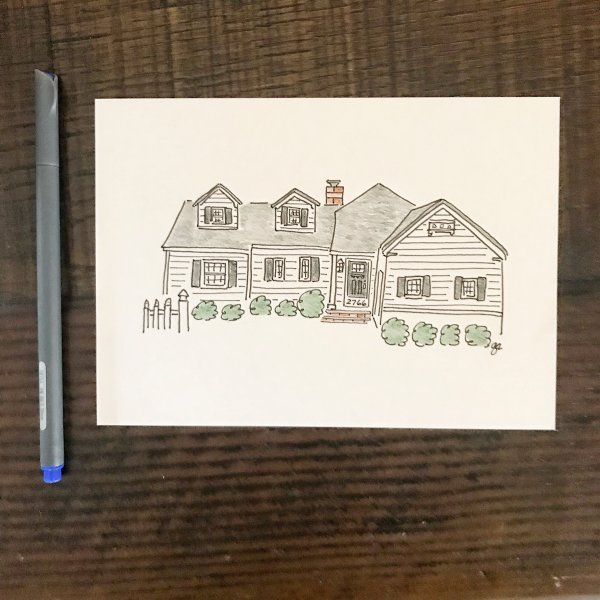 Custom Print of Your Home #giftideas #anniversary #newhome