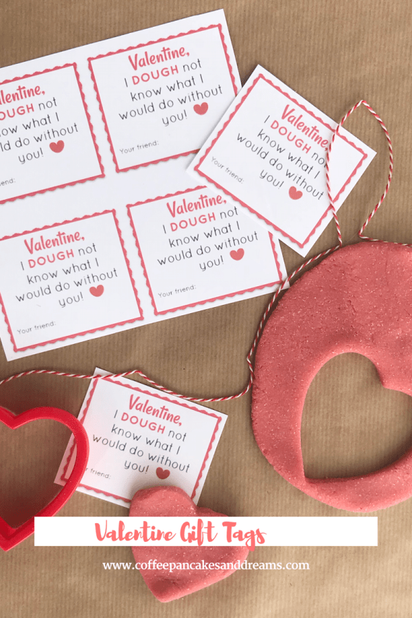 Valentine's Day Playdough Favor Tags