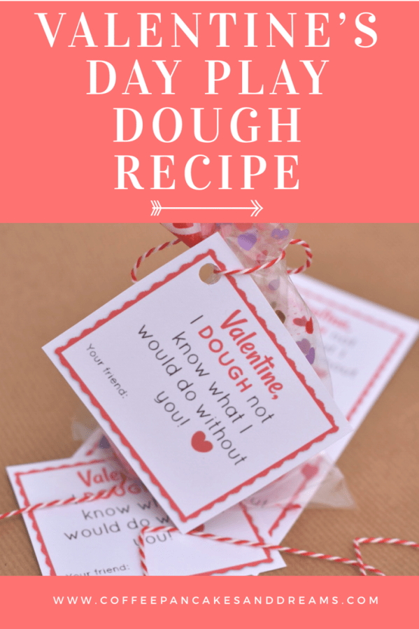 Easy Recipe for Homemade Play Dough #valentinesday #valentinefavors
