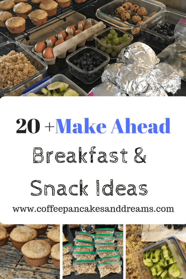 Make Ahead Snacks and breakfast for busy families #onthego #makeaheadsnacks #breakfasts #healthyeating