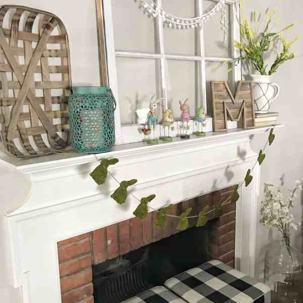 Spring Farmhouse Mantel