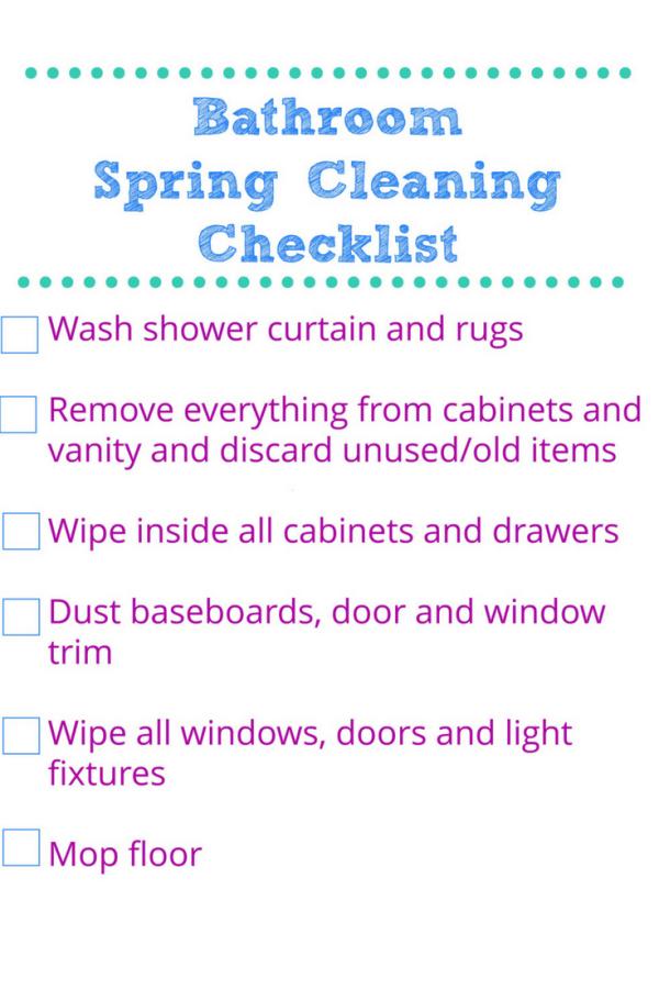 30 Minute Spring Clean Bathroom