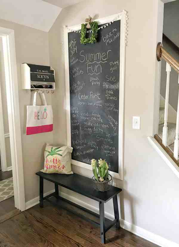 Summer Chalkboard Idea